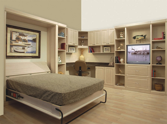Murphy bed home office in Houston