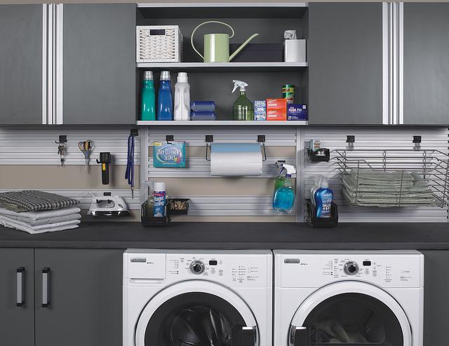 custom laundry room storage Houston