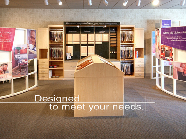 Designed to Meet Your Needs banner showroom