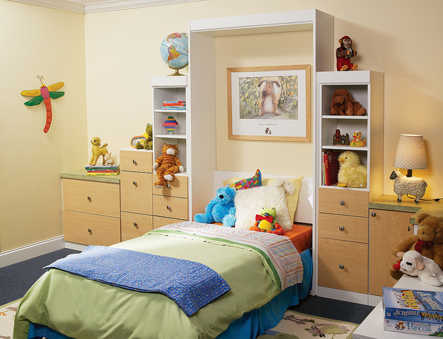 Neat kid room with murphy bed
