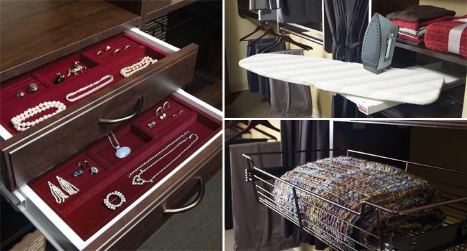 Custom closet accessories in Charleston