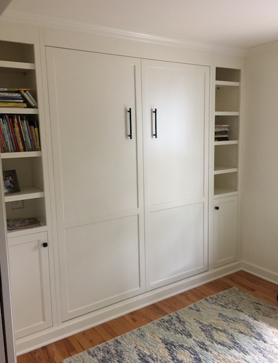 Built In Wood Murphy Bed Transforms A Guest Room In Charleston