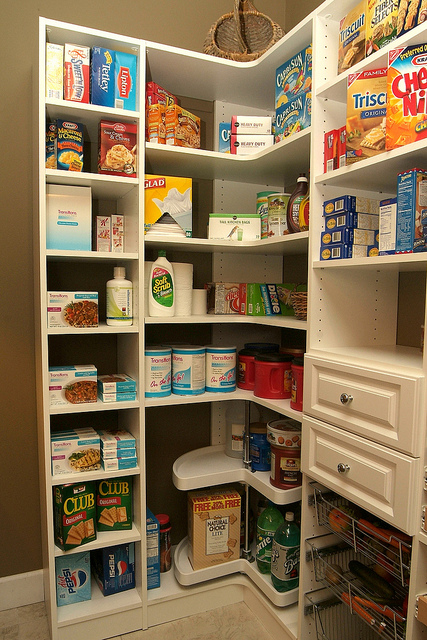 organized Charleston pantry shelves