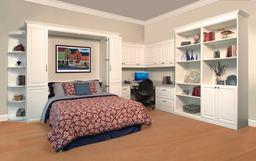 Mt. Pleasant murphy bed and office in white