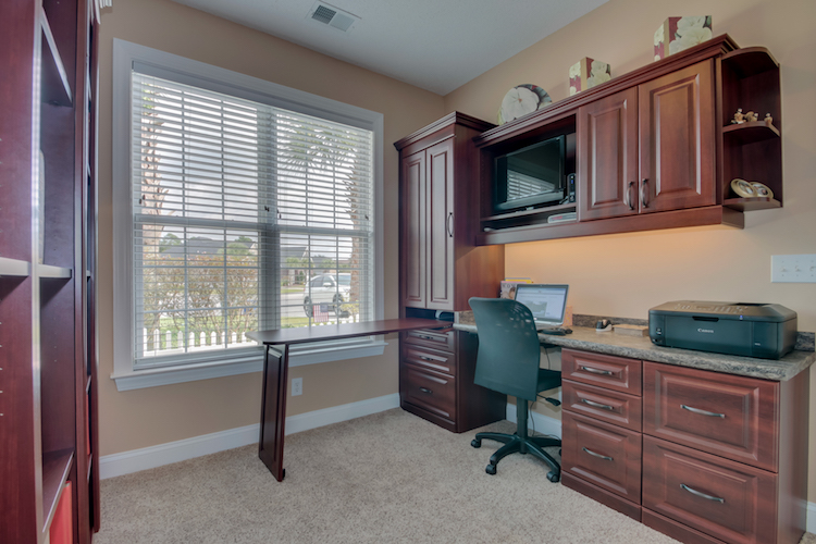Builtin office desk and furniture Myrtle Beach