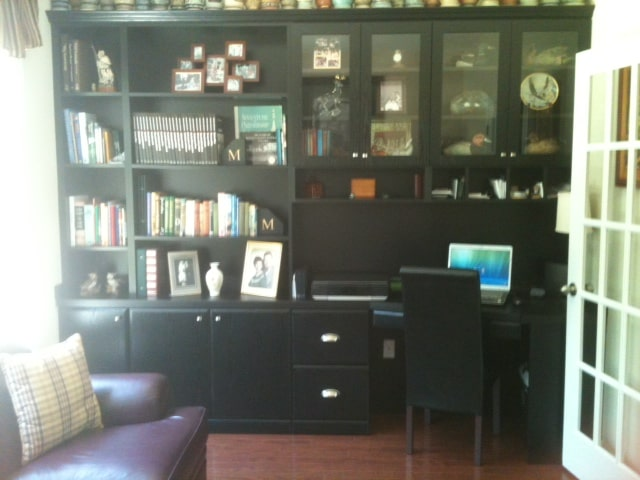 custom office library shelving project Myrtle Beach