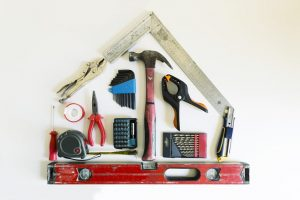remodeling tools in shape of a house