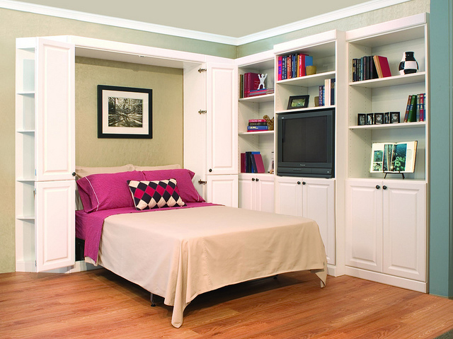 Creative family storage ideas more space place myrtle for Creative murphy bed ideas