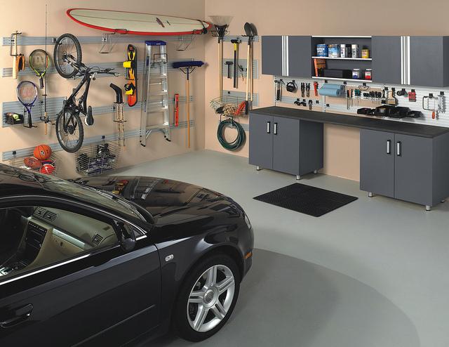 Full custom garage storage system.