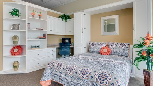 Murphy bed with desk in Myrtle Beach