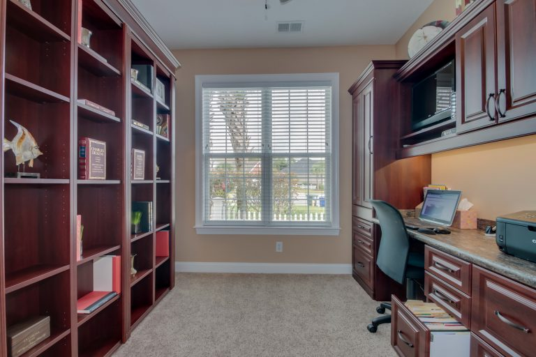 Myrtle Beach bookcase Murphy bed closed