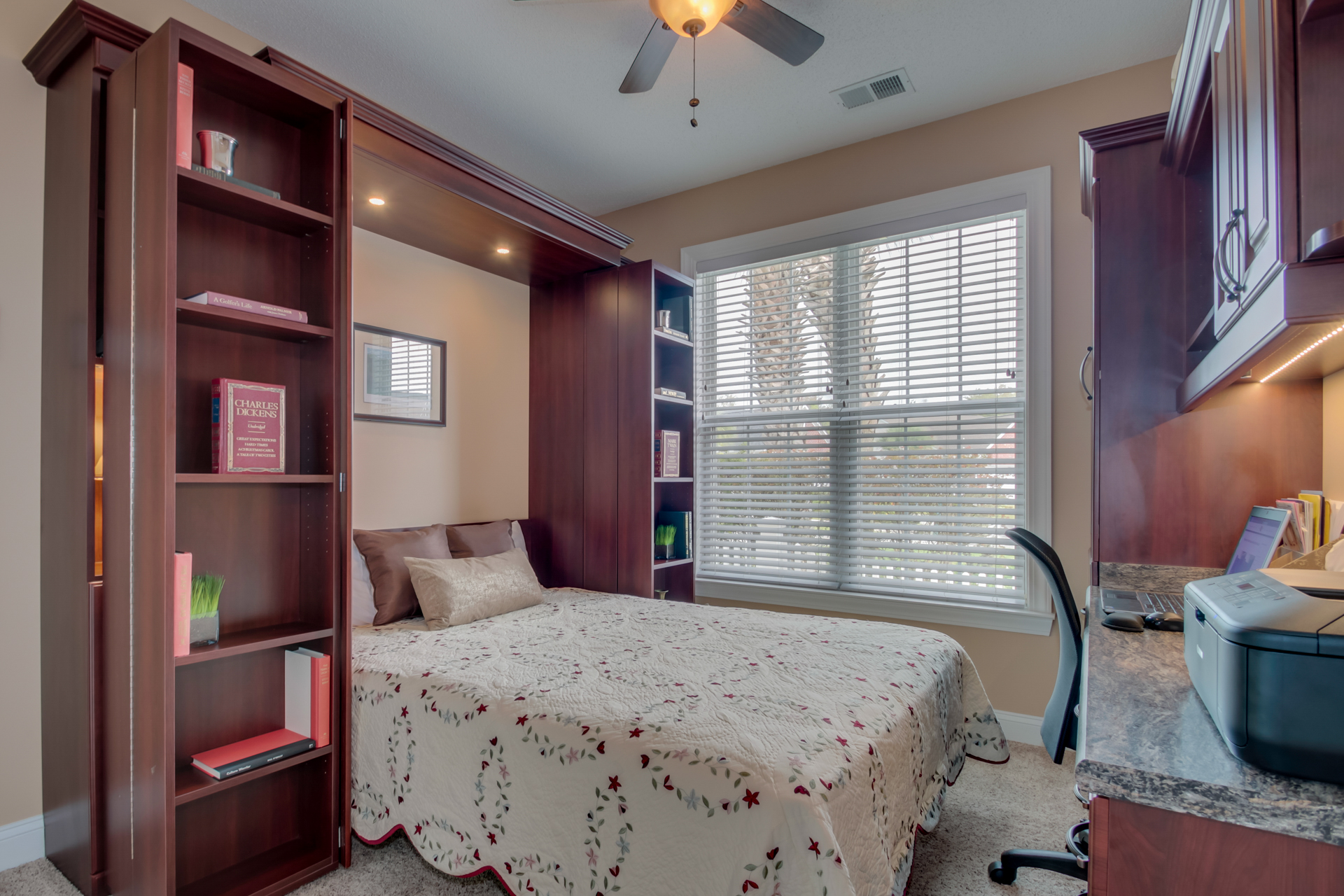 Bookcase queen Murphy bed Myrtle Beach