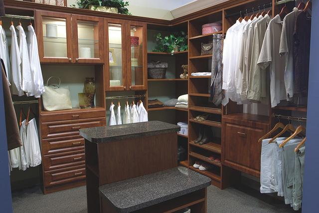 Traditional custom closet storage