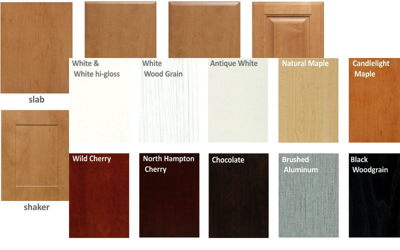 Sample of custom closet doors finishes