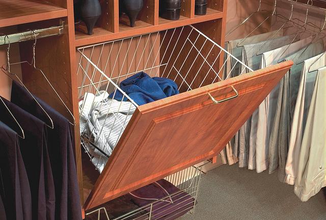 Hidden hamper in custom closet Myrtle Beach