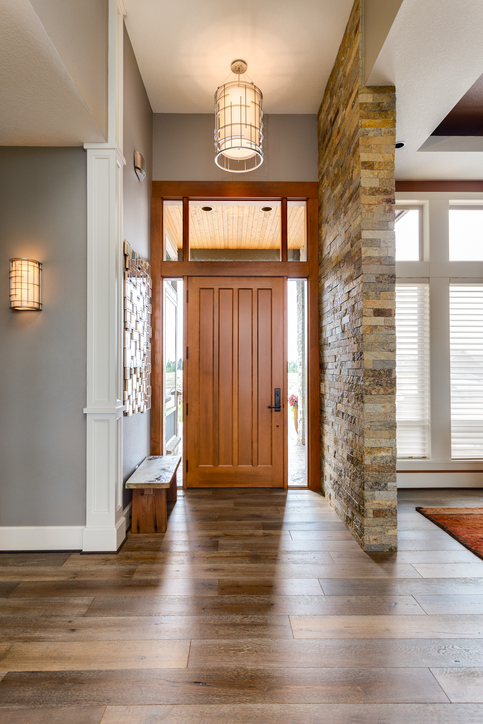 Elegant front door and entryway