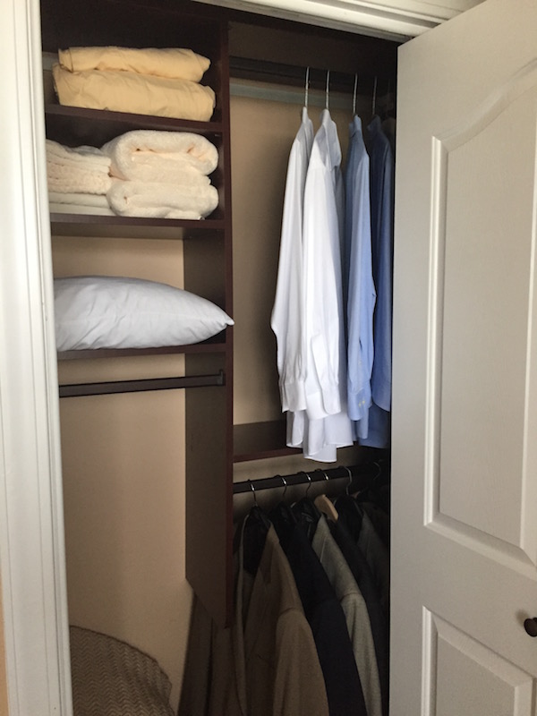 Small Reach In Custom Closet Cherry Finish Myrtle Beach Home