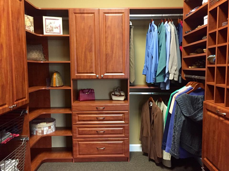 Medium Dark Color Custom Closet In Myrtle Beach