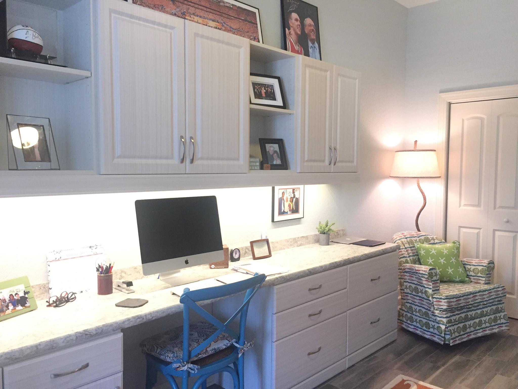White chocolate Myrtle Beach home office storage