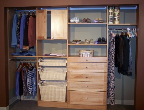 Custom wood closet in Myrtle Beach