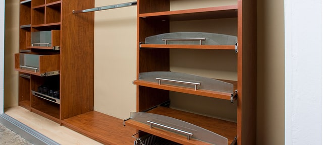 custom closet with slideout shelves Myrtle Beach project