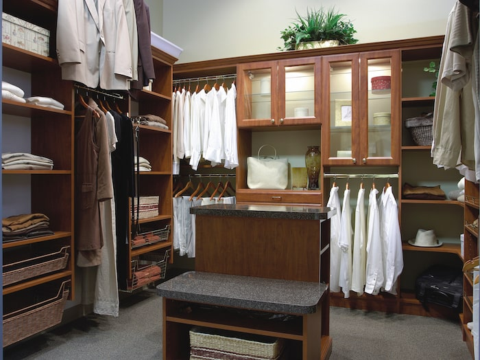 traditional walk-in custom closet Myrtle Beach