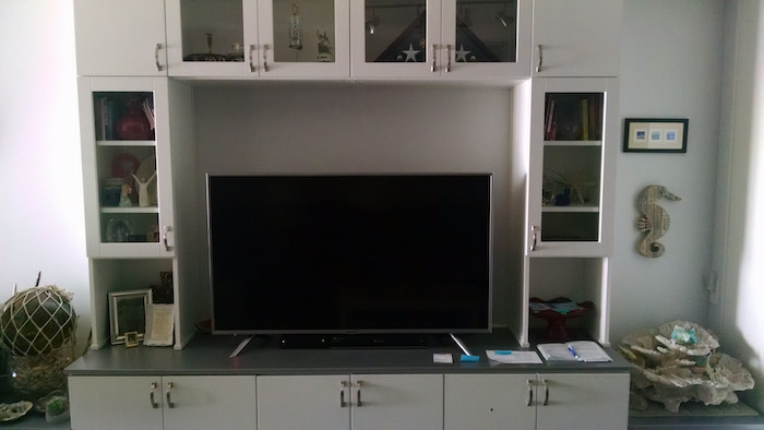 custom entertainment wall unit cabinets Myrtle Beach