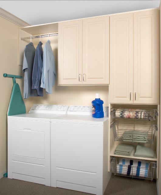 custom storage laundry room