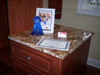 Blue ribbon award on display More Space Place Myrtle Beach
