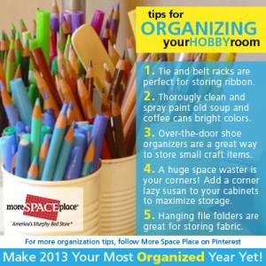 organize hobby room