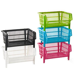 Stackable baskets