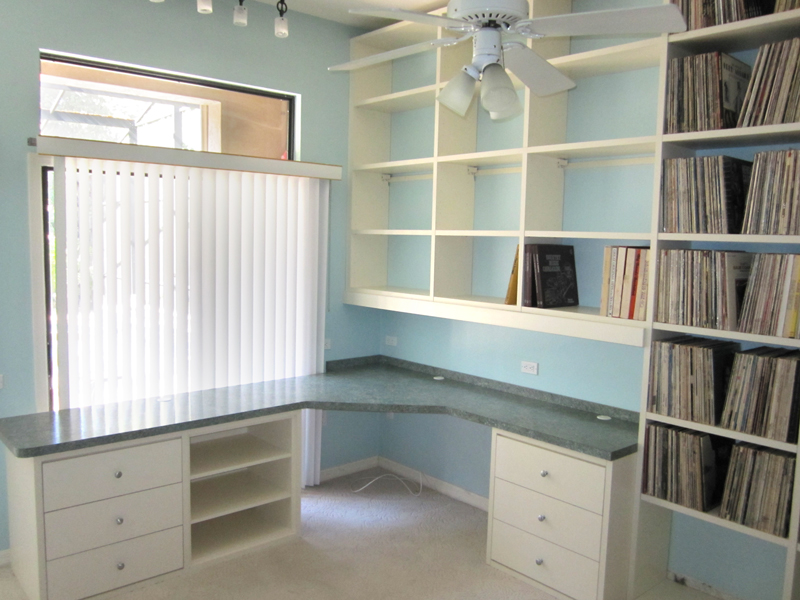 Custom Home Office Furniture for a Siesta Key DJ  More Space