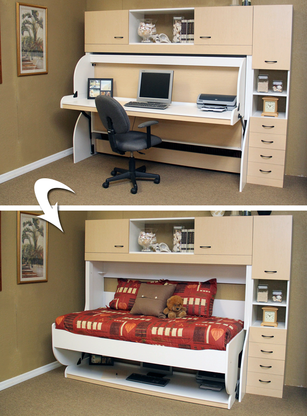 The Incredible Disappearing Murphy Bed More Space Place