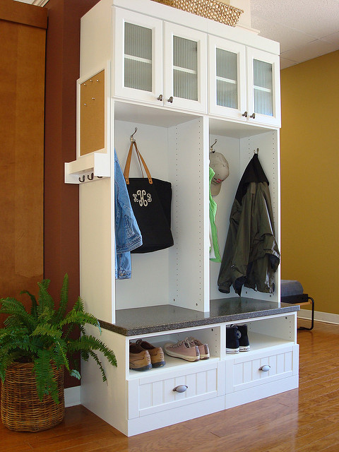 Custom Mudroom Organization Unit
