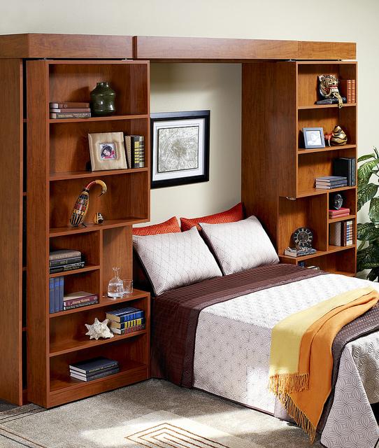 Murphy bed bookshelf