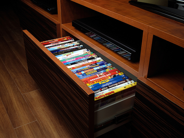 More Space Place Entertainment Center Movie Organizer