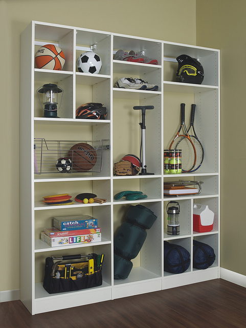 Custom sports equipment shelving