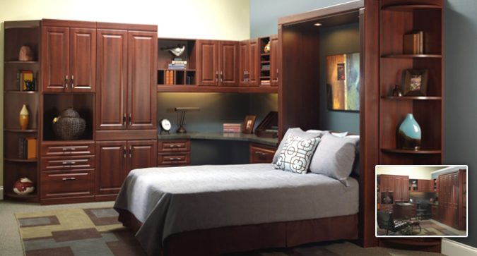 Park avenue wall bed and desk