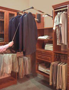 organize closet with ergonomics in mind