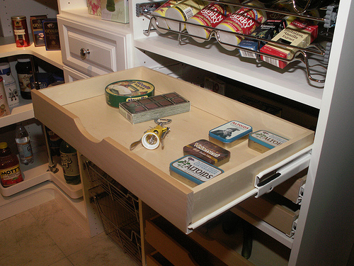 organized kitchen pantry drawer