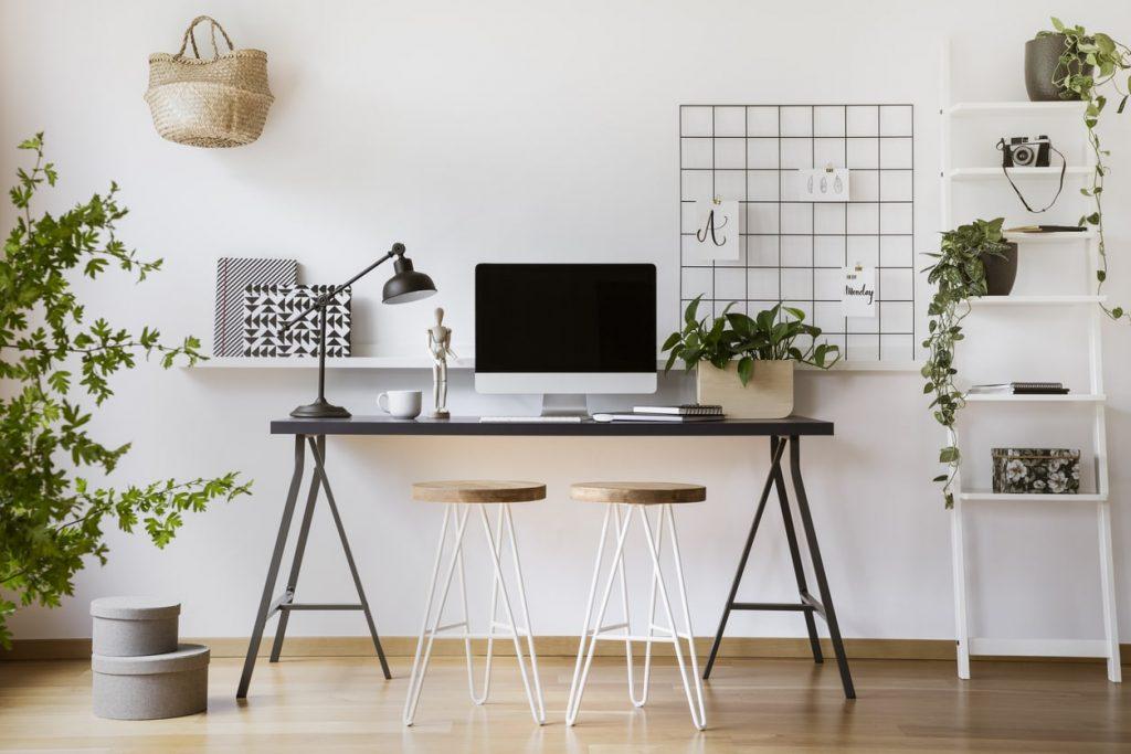 Custom home office desk inspiration decor