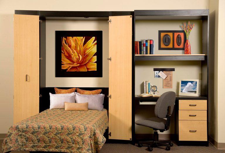 Teenager Murphy bed custom desk