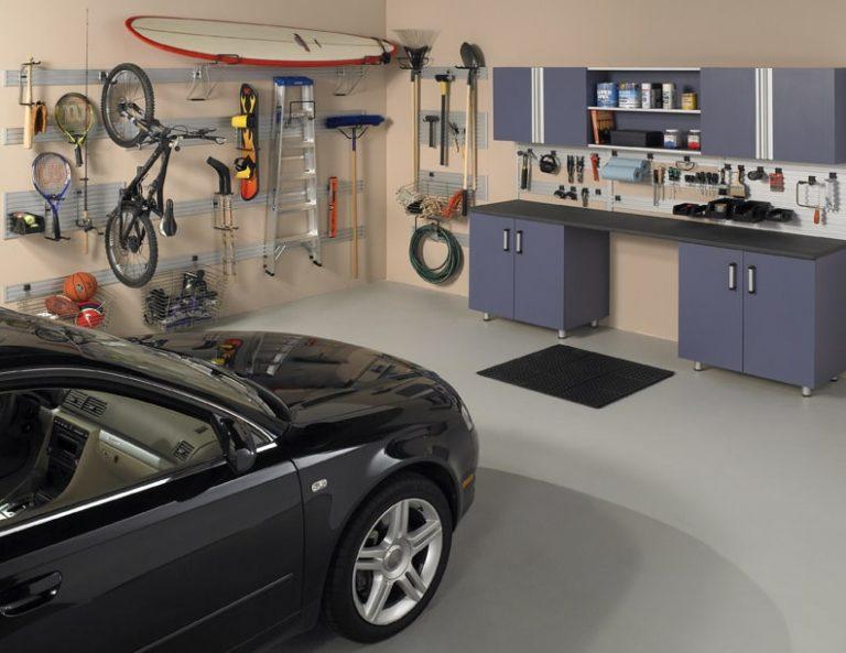 garage cabinet storage slat wall