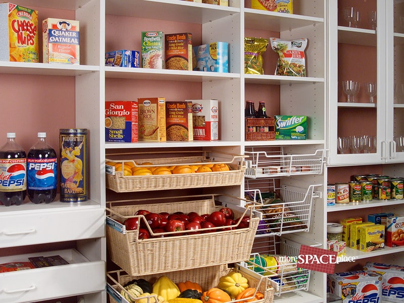 Organized Kitchen Pantry - More Space Place