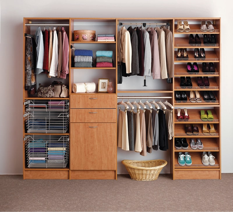 Organized Custom Closet in Bedroom - More Space Place