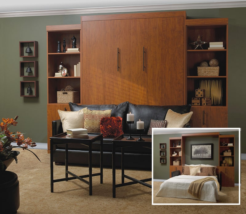 Custom built Murphy bed - home storage solution - More Space Place