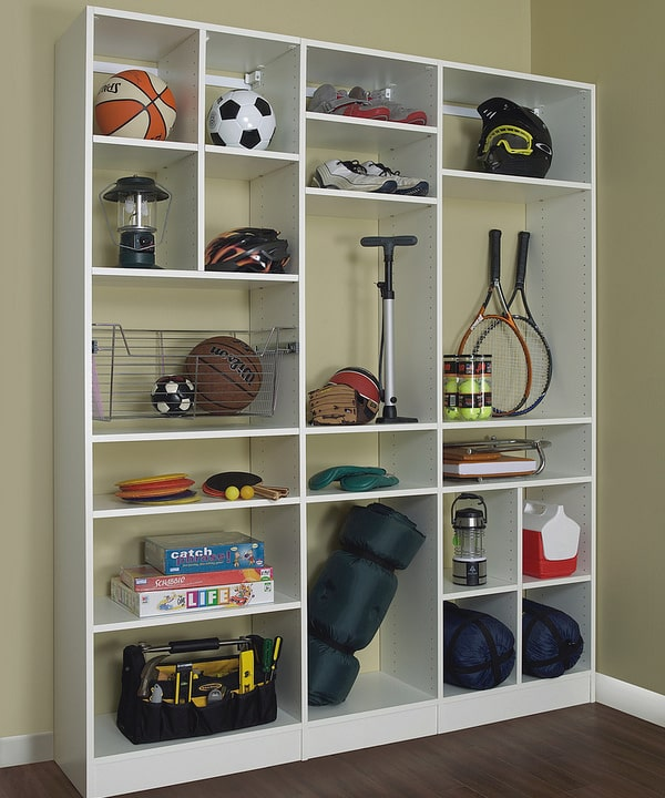 Custom Cubby Storage for Garage  -  More Space Place