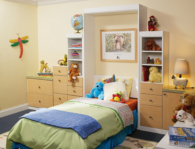More Space Place - Organized Kids Bedroom with Murphy Bed