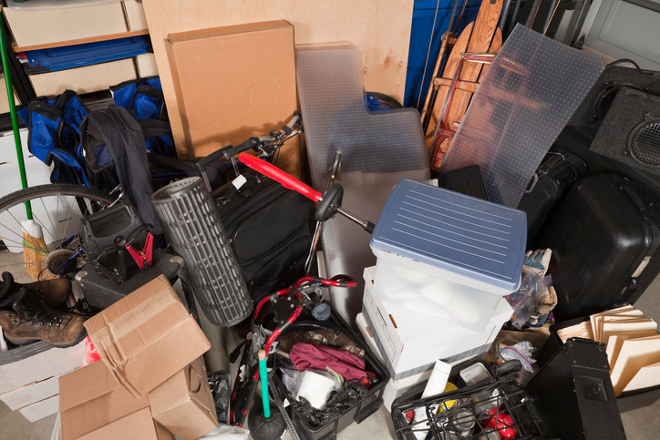 messy storage pile home organization resolution