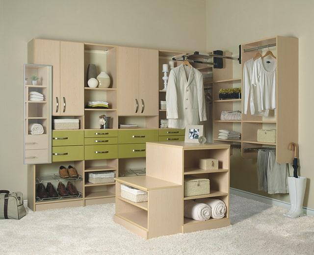 A well-organized custom closet